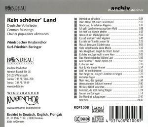 Kein Schöner Land-Volkslieder