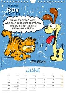 Garfield 80ies Classic Kalender (Wandkalender 2016 DIN A4 hoch)
