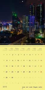 Tallinn lights (Wall Calendar 2015 300 × 300 mm Square)