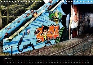 BRUXELLES Graffitis (Calendrier mural 2016 DIN A4 horizontal)