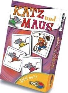 Noris 606094215 - Katz & Maus, Mitbringspiel