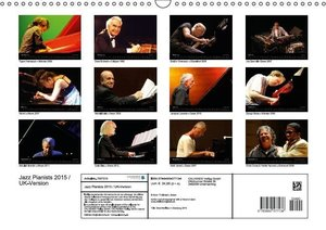 Jazz Pianists 2015 / UK-Version (Wall Calendar 2015 DIN A3 Lands