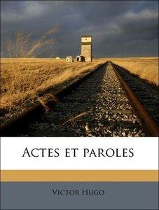 Actes et paroles Volume 5