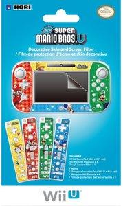 Wii U - Gamepad & Bildschirm Schutzfolie + Mario Folien