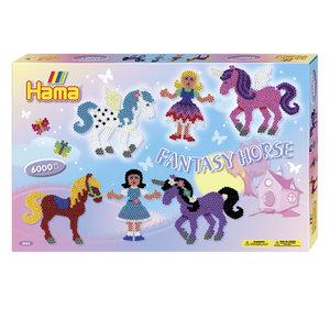 Hama 3033 - Geschenkpackung Fantasy Horse, 2x Stiftplatte 258+31