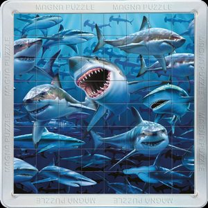 3D Magna Puzzle Haie 64 Teile