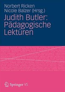 Judith Butler: Pädagogische Lektüren