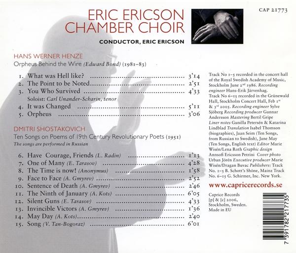 Orpheus Behind The Wire/Ten Songs - zum Schließen ins Bild klicken