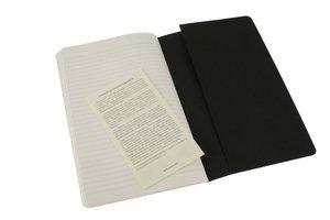 Moleskine Cahier large. Ruled. Black Cover. 3er Pack