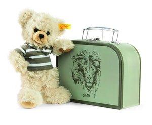 Steiff 111211 - Lenni Teddybär im Koffer, 22cm