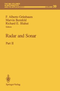 Radar and Sonar