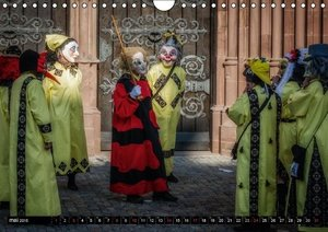 Les masques du carnaval de Bâle (Calendrier mural 2015 DIN A4 ho