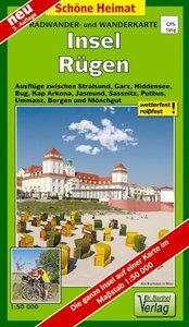 Insel Rügen Radwander- und Wanderkarte 1 : 50 000