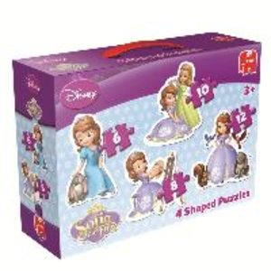 Disney Sofia the First - 4in1 Konturenpuzzle