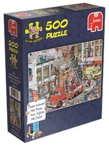 Jan van Haasteren - Feueralarm - 500 Teile mit Poster