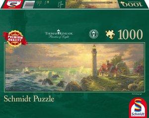Thomas Kinkade, Leuchtturm-Idylle, Panoramapuzzle, 1.000 Teile P