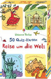 50 Quiz-Karten: Reise um die Welt