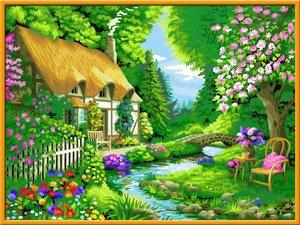 Cottage Garden. Malen nach Zahlen Serie Premium