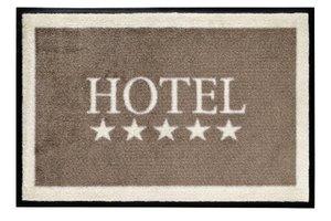 Fussmatte waschbar Hotel, beige 75x50cm