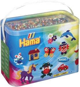 Hama 208-67 - Eimer mit ca. 30000 Perlen im Volltonmix