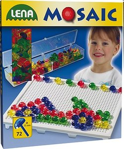 Lena 35531 - Mosaic Set Transparent, 1,5 cm