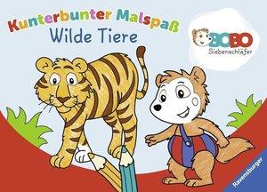 Bobo Siebenschläfer: Kunterbunter Malspaß Wilde Tiere