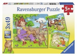 Meine Lieblingstiere. Puzzle 3 X 49 Teile
