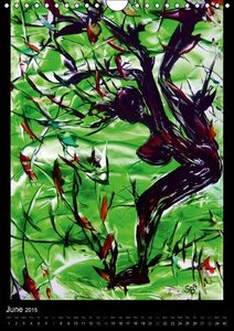 Fantastic Hot Wax Paintings women trees (Wall Calendar 2015 DIN