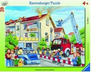 Die Feuerwehr rückt aus. Rahmenpuzzle (39 Teile)