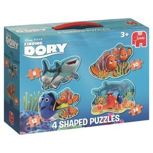 Disney Finding Dory 4in1 Konturenpuzzle 8/10/12/14 Teile