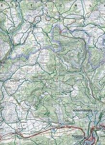 KuF Schweiz Radkarte 01 Schaffhausen - Winterthur 1 : 60 000