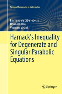 Harnack's Inequality for Degenerate and Singular Parabolic Equat