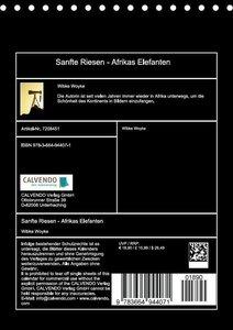 Sanfte Riesen - Afrikas Elefanten (Tischkalender 2017 DIN A5 hoc