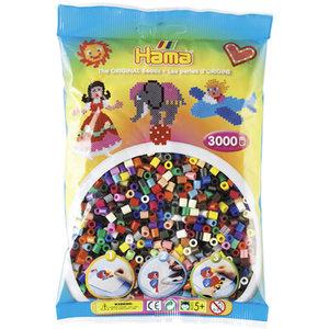 Hama 201-67 - The Original Beads, volltonfarben, 3000 Stück
