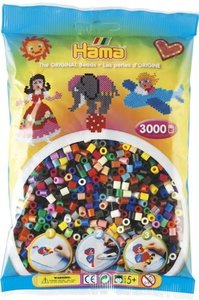 Hama 201-67 - The Original Beads, volltonfarben, 3000 Stück