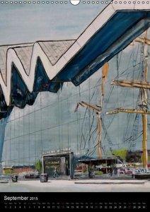 Glasgow in Oils (Wall Calendar 2015 DIN A3 Portrait)