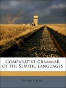 Comparative grammar of the Semitic languages