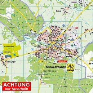 Schwarzenbek mit Amt Schwarzenbek-Land 1 : 30.000 Posterplan
