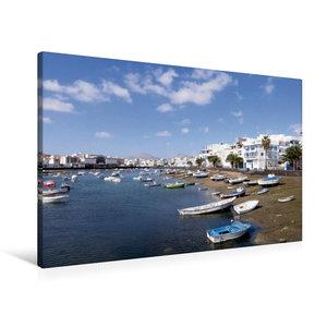Premium Textil-Leinwand 90 cm x 60 cm quer Lanzarote - Arrecife