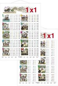 1 x 1 in Bildern - Lernposter beidseitig bedruckt mit Metallbele