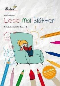 Lese-Mal-Blätter. Grundschule, Deutsch, Klasse 1-2