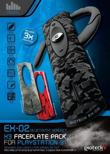 GIOTECK EX-02 Bluetooth Wireless Headset, kabellos (Inkl. 3 Face