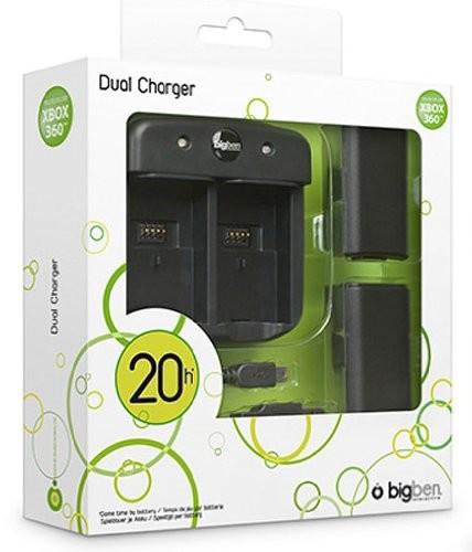 Dual Charger Xbox360Ö, Charging Station, Ladestation inkl. Akkus - zum Schließen ins Bild klicken