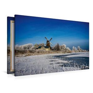 Premium Textil-Leinwand 120 cm x 80 cm quer Holländermühle Nicol