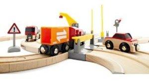 Brio 33208 - Straßen und Schienen: Kran Set