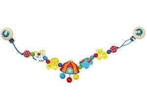 Goki 735720 - Kinderwagenkette Zirkus, Holz