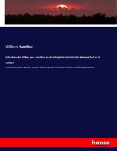 Schreiben des Ritters von Hamilton an die königliche Societät de