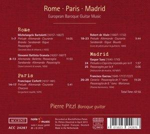 Rome - Paris - Madrid. Europäische Gitarrenmusik des Barock
