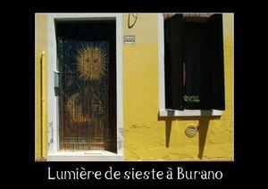 Lumière de sieste à Burano (Livre poster DIN A4 horizontal)