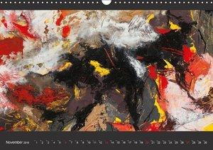 Abstraktionen auf Leinwand (Wandkalender 2016 DIN A3 quer)